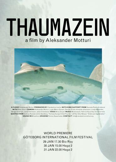 Grön filmaffisch till filmen Thaumazein