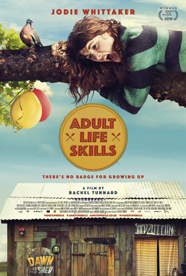 Skrikande flicka i ett träd, filmaffisch till filmen Adult Life Skills med ljudproduktion av Auditory