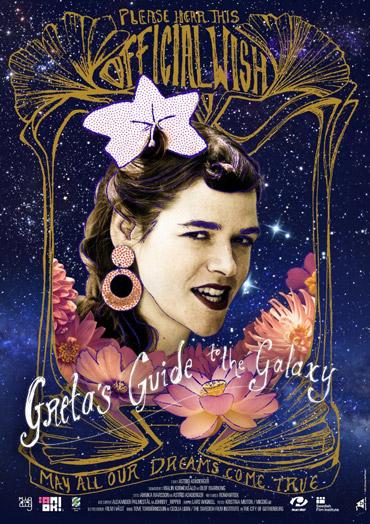 Filmaffisch till filmen Gretas guide till galaxen med ljudproduktion av Auditory